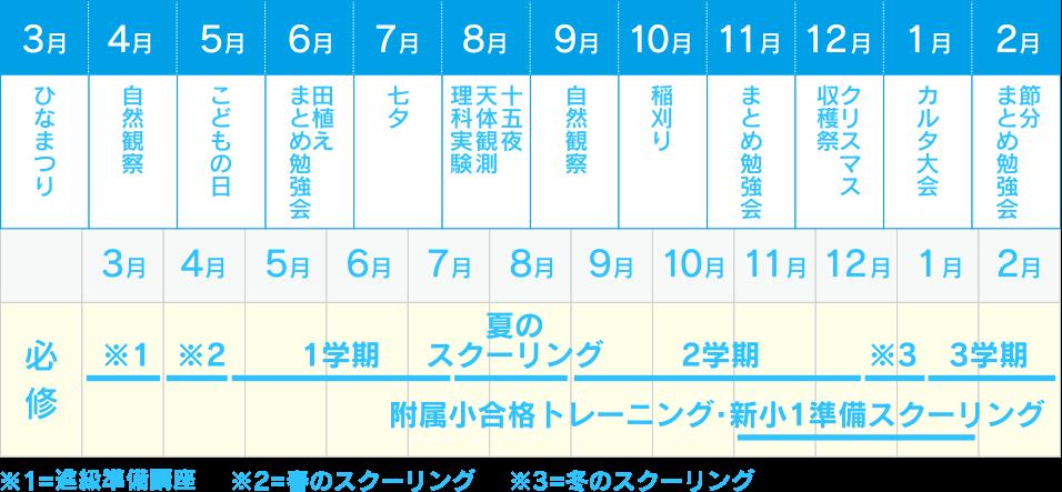 年間スケジュール表